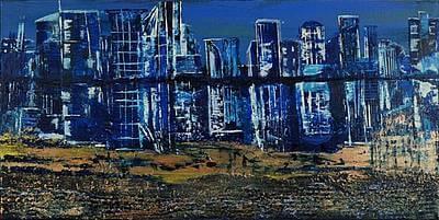 Abstraktes Gemälde einer Großstadt